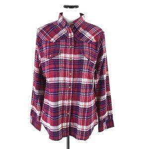 Jachs Girlfriend Flannel Pearl Snap Shirt #101
